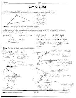 law of sines and cosines worksheet - Termolak
