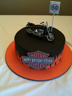 Harley-Davidson Happy Birthday Cake