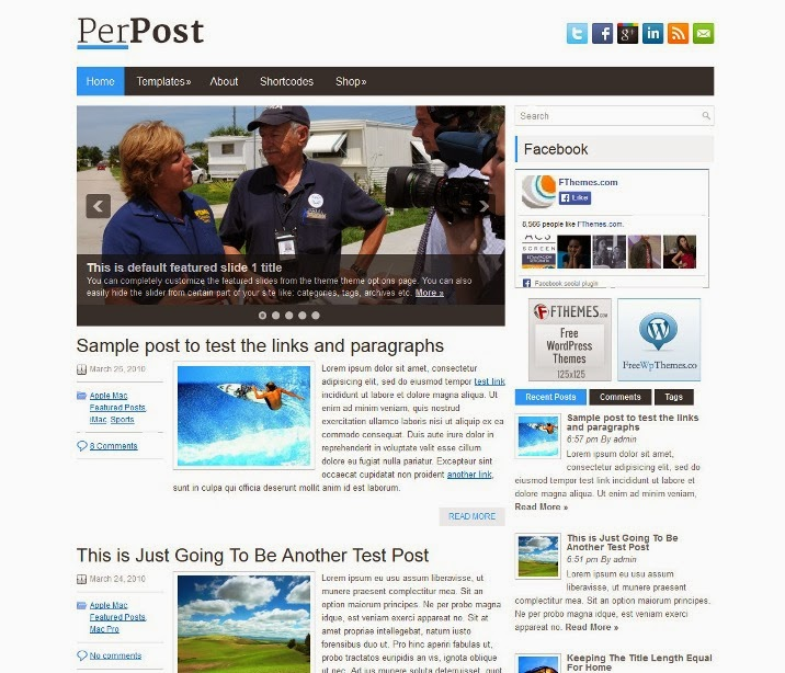 PerPost - Free WordPress Theme