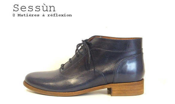 Derbies cuir Sessun montante Yagi