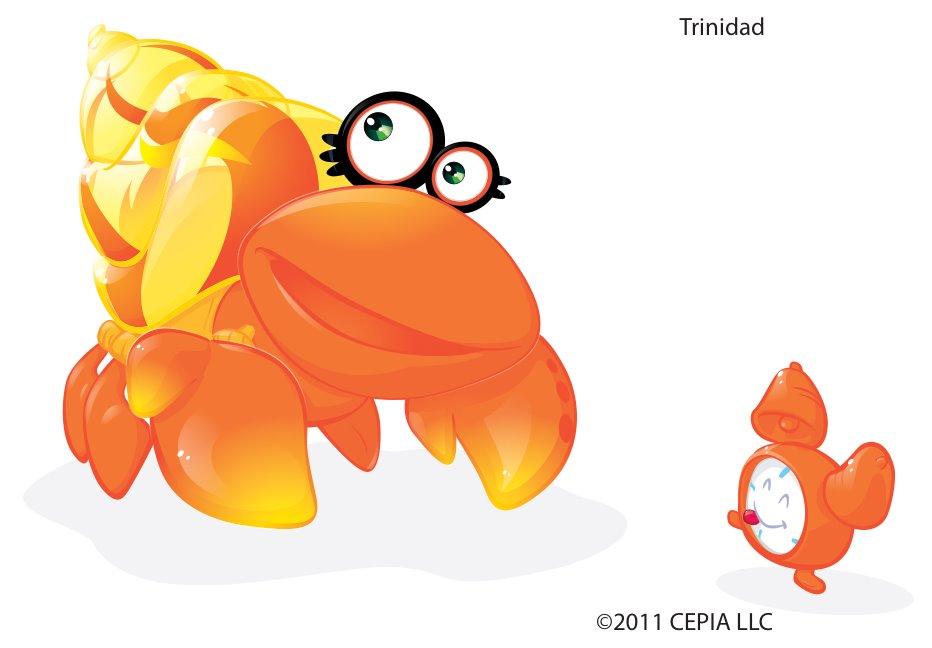 XiaXia Pets Hermit Crab Shell Orange with Festive Design Cepia