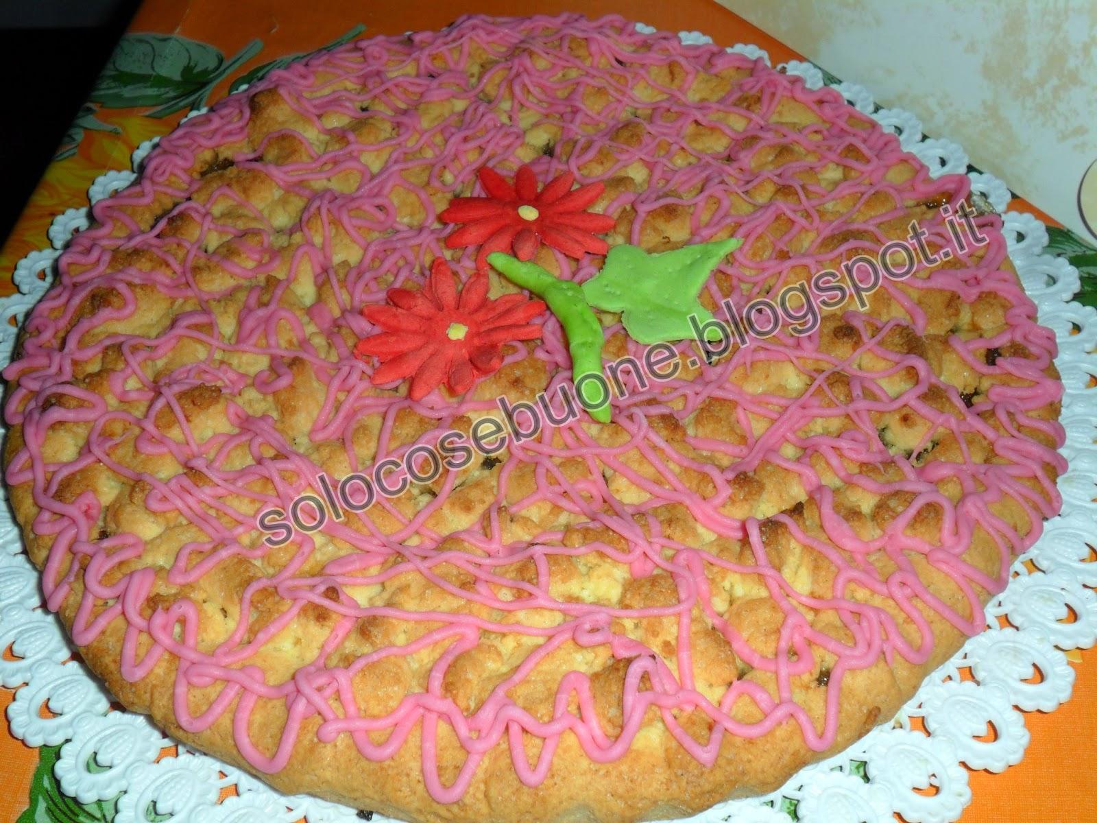 torta di  frolla ripiena di marmellata