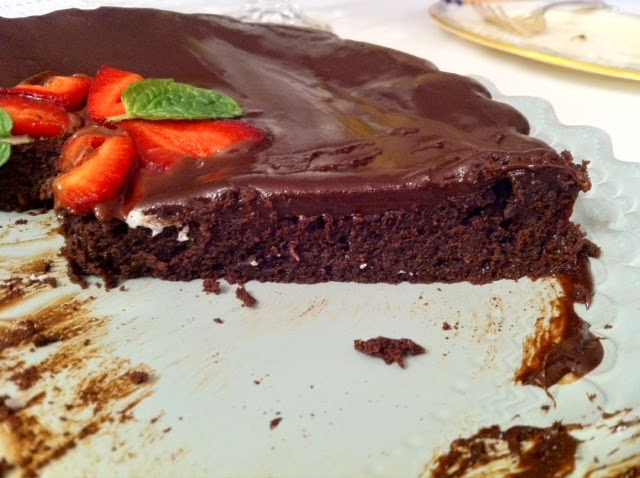 Flourless Chocolate Ganache Cake Recipe — Dishmaps