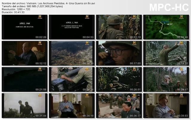 History|Vietnam Los Archivos perdidos|6/6|DVDRip|6GB|MEGA