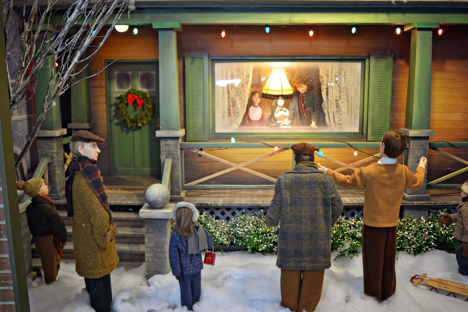 A Christmas Story Window Display