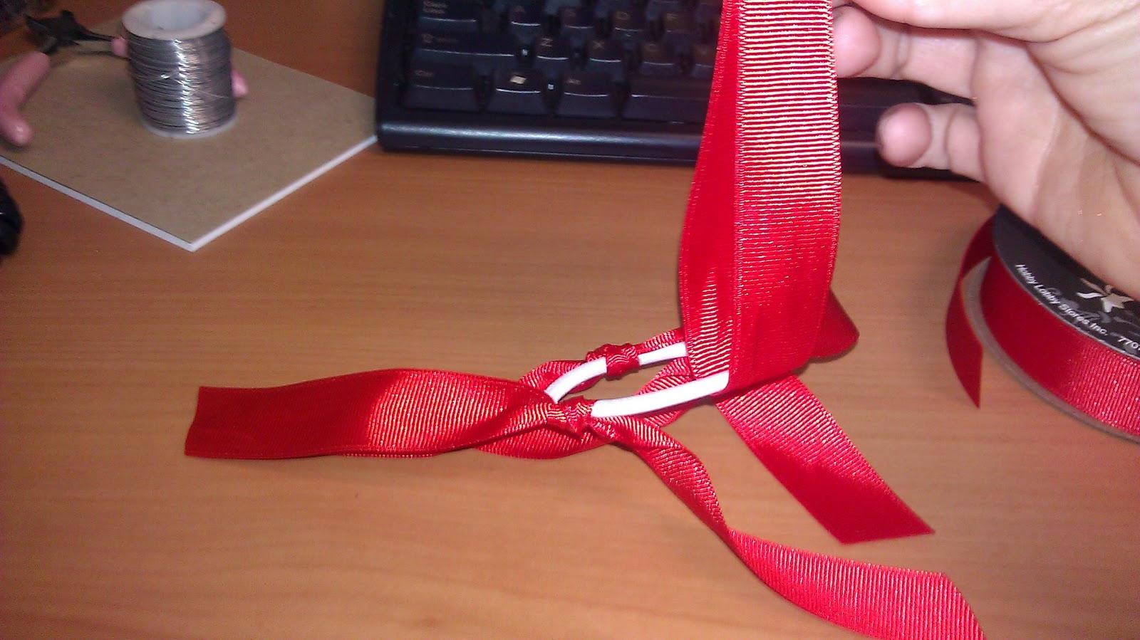 how to make ribbon hair ties