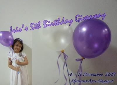 http://mummyayu.blogspot.com/2013/11/iriss-5th-birthday-giveaway.html