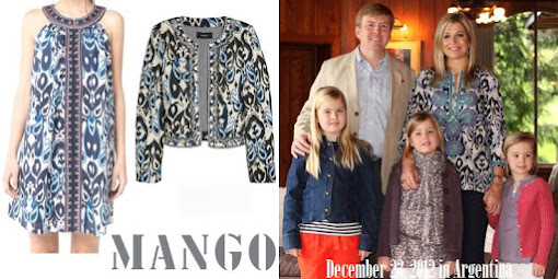 Queen Maxima Style MANGO Paisley Print Dress