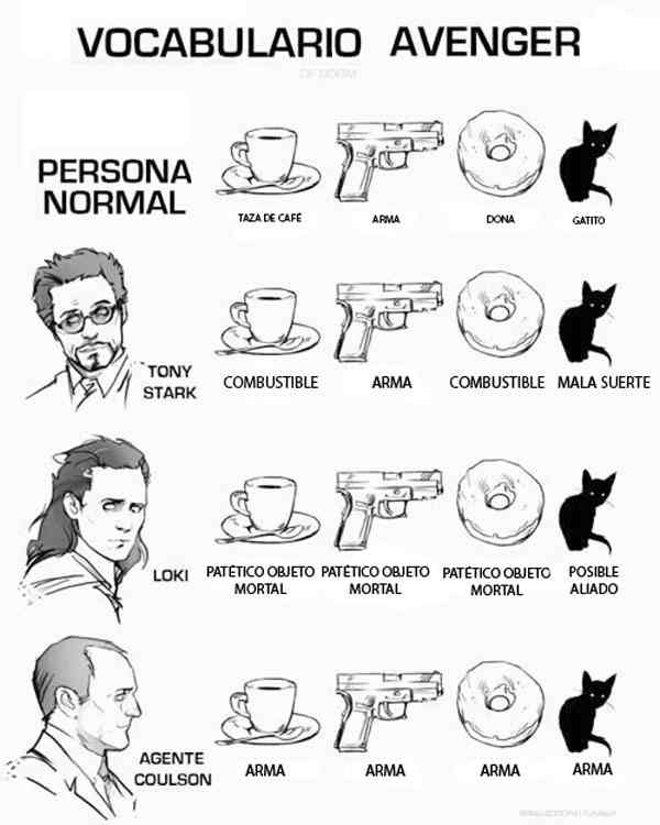 humor, avenger, tony stark, loki, agente coulson