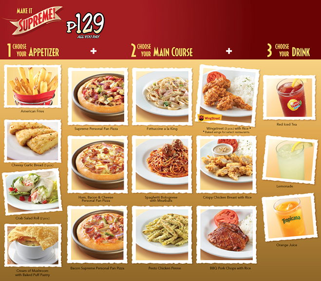 pizza hut india menu with prices pdf