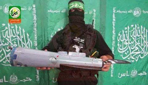 كتائب القسام تسقط طائرة بدون طيار اسرائيلية