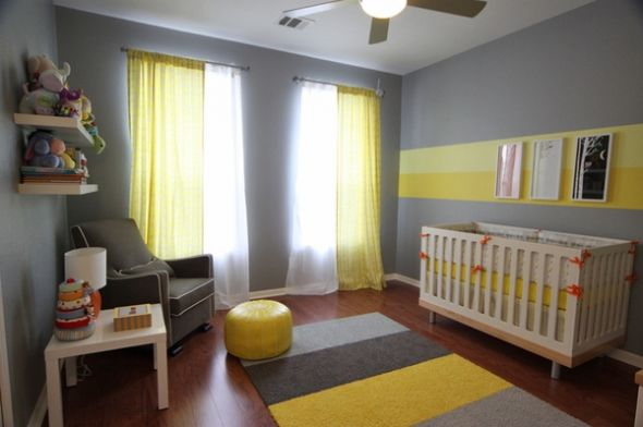 Yellow and Grey Nursery 590 x 392
