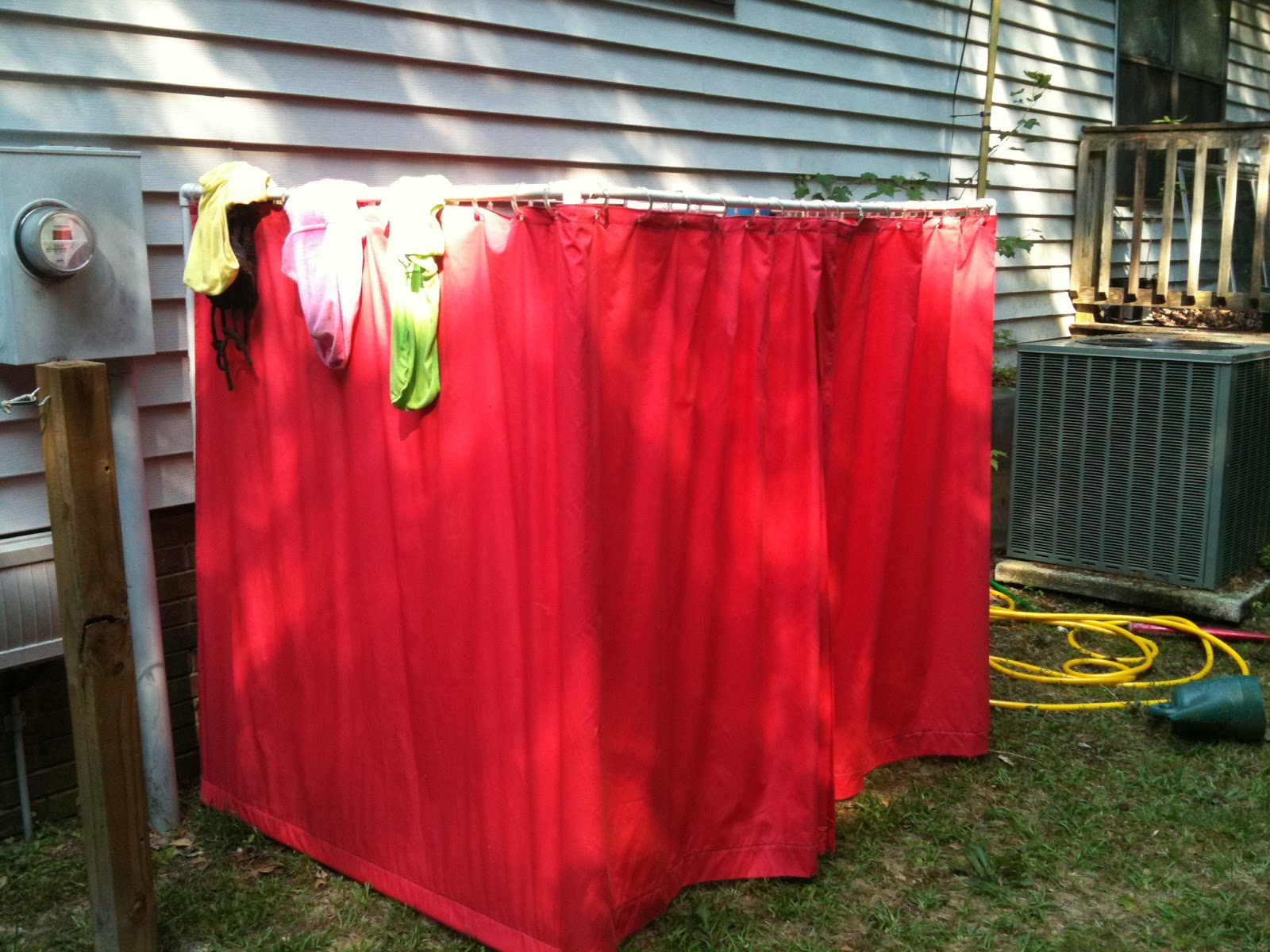 All things made by kelly outdoor changing room for Pvc pipe dressing room