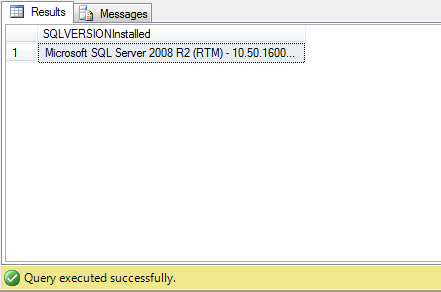 Sql Query to Get Sql Server version