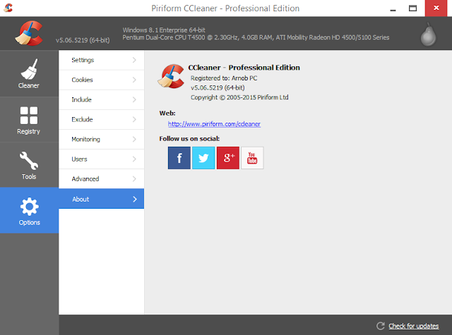 CCleaner v5.06.5219 Business, Technician & Professional Edition Incl Crack Screenshot