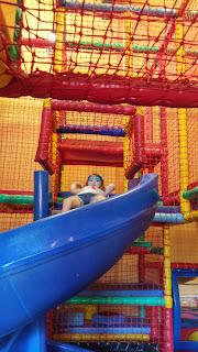 Blue curly slide