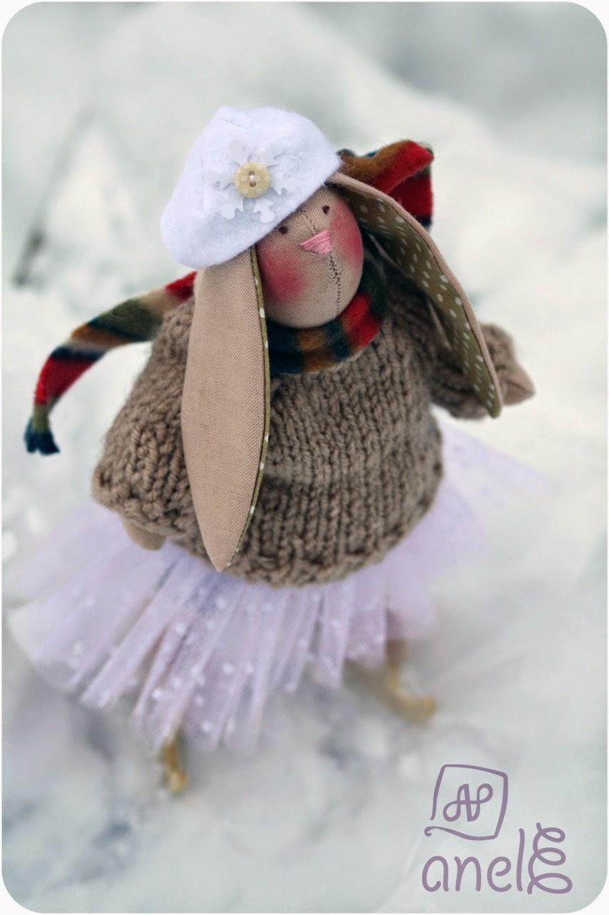 заяц-игрушка, заяц-тильда, ручная игрушка