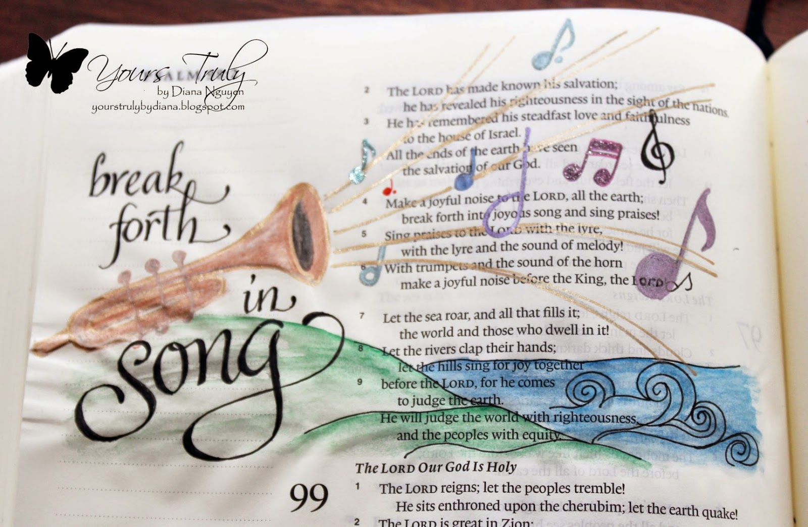 Diana Nguyen, Bible, art, journaling, illustrated faith