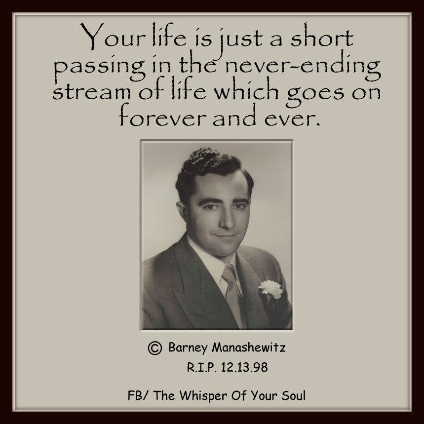 Your Life Is Just A Short Passing In The Never Ending Stream Of Life