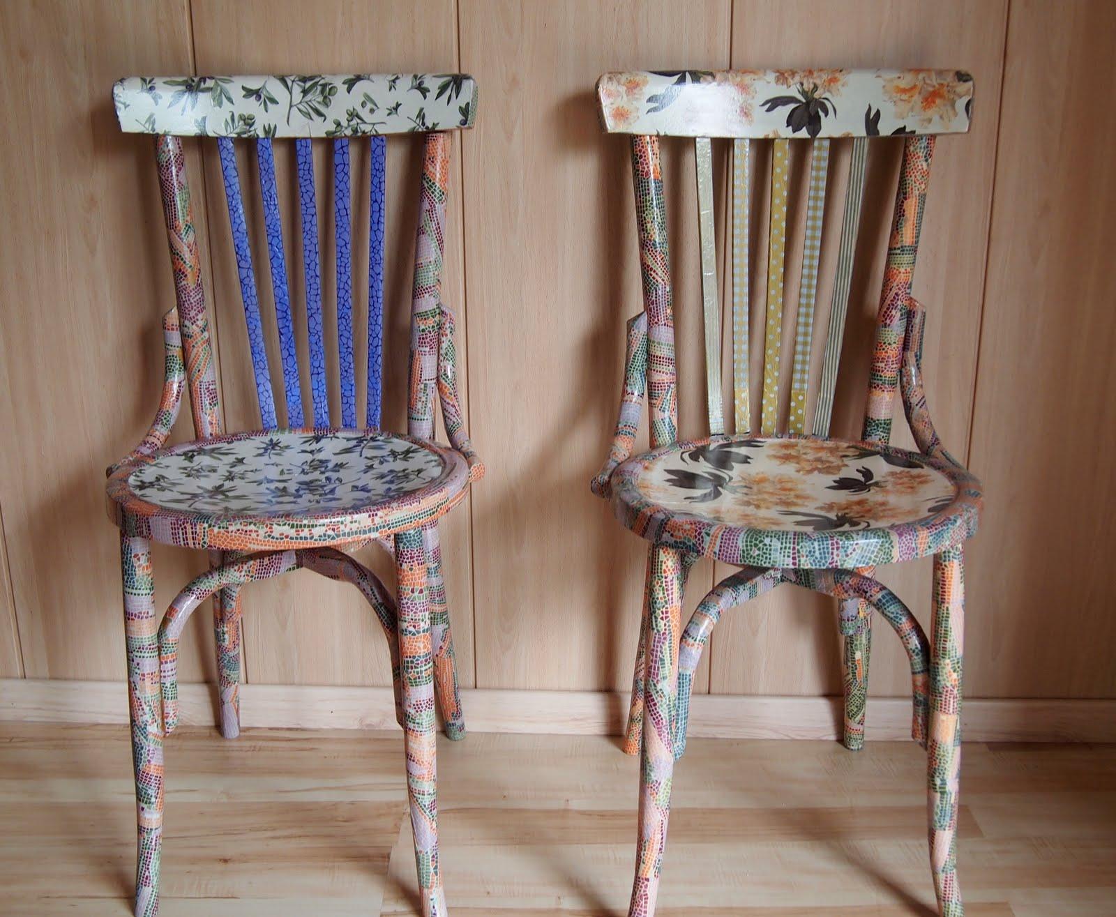 El placer del hacer sillas decoupage for Sillas de madera comodas