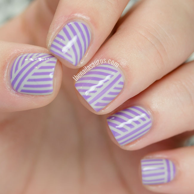 31DC2015: Purple Candy Stripes