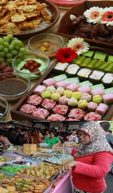 Gambar usaha dipasar kue takjil untuk buka puasa ramadhan