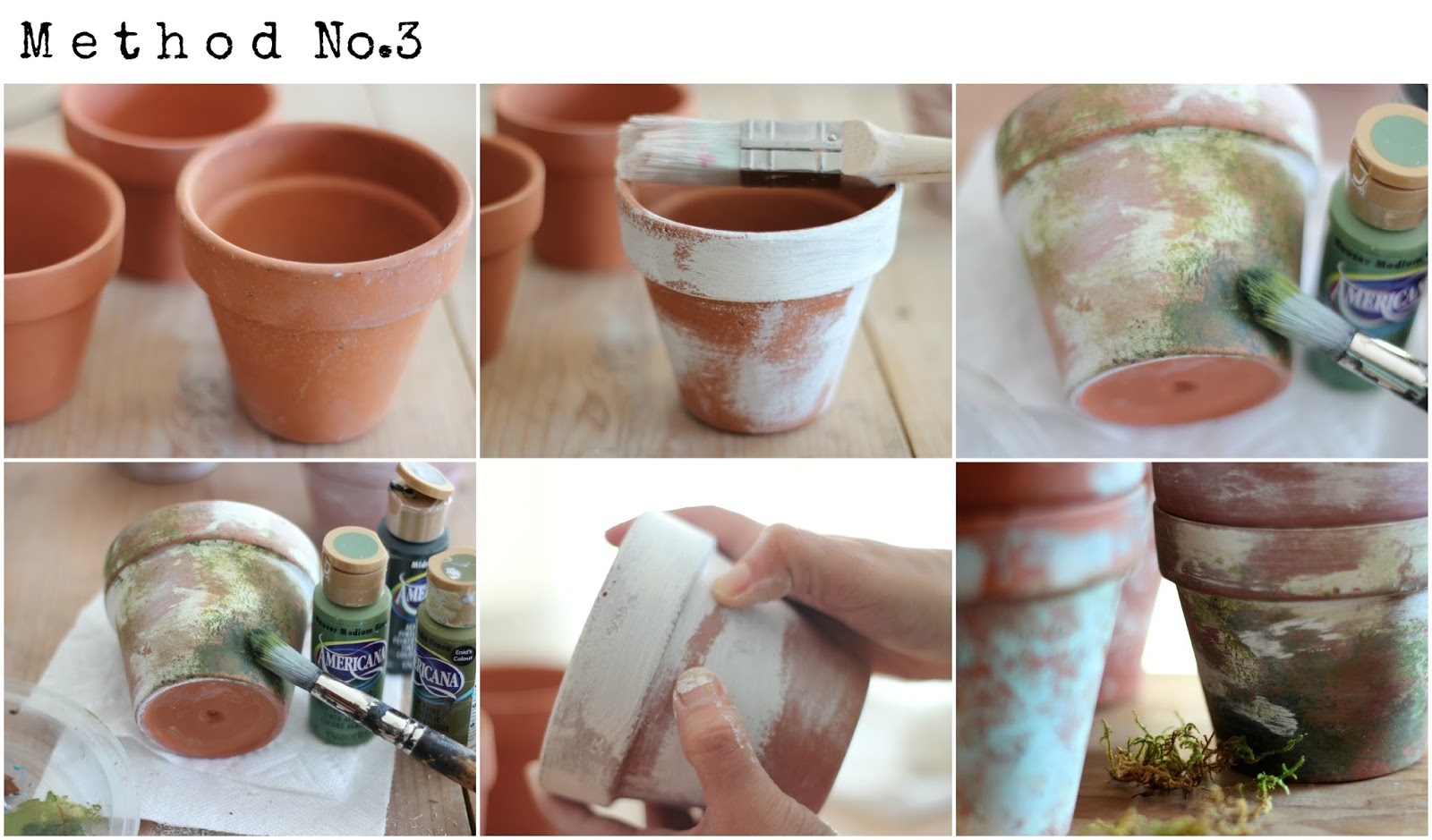 How to make terra cotta pots chippy its overflowing - How to make terracotta colour ...