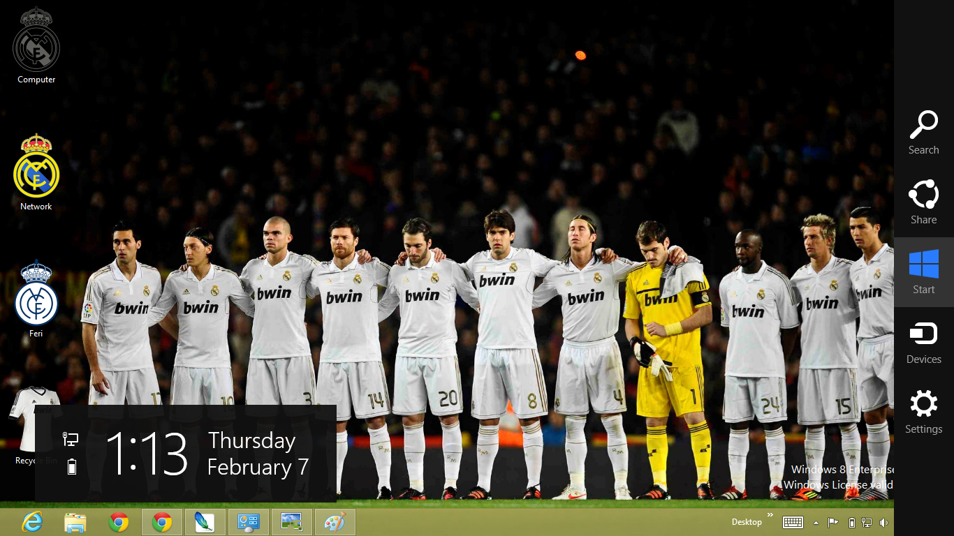 Real Madrid Theme For Windows 8