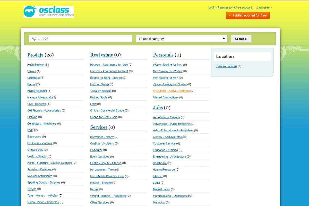 Download osclass free themes