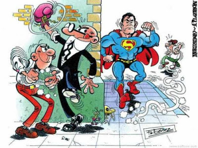 Dibujo de Mortadelo y Filemón por Francisco Ibañez