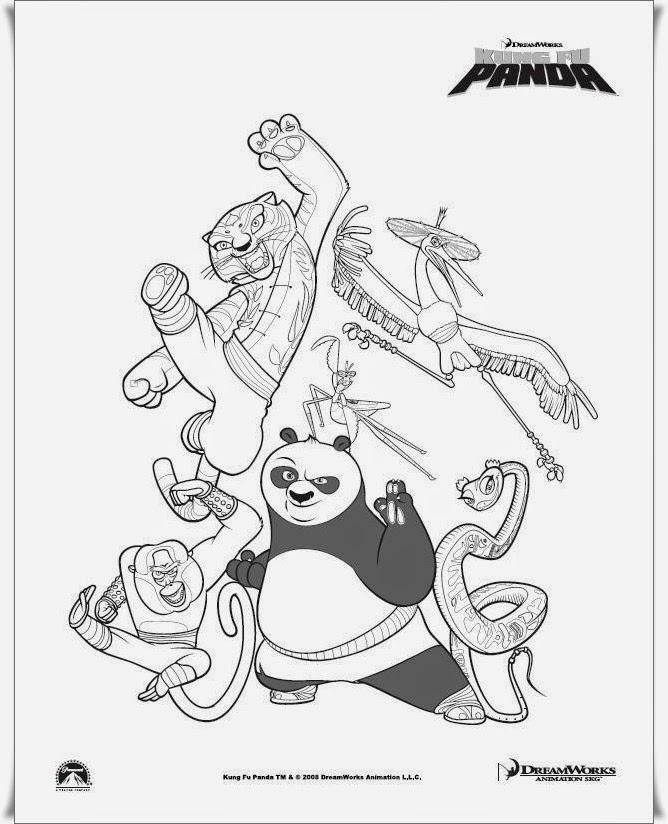 Ausmalbilder Kungfu Panda