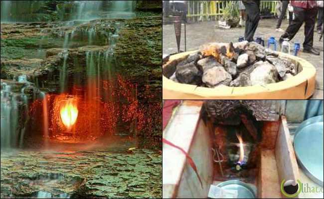 10 Api Kekal Abadi di Dunia karena proses Alamiah