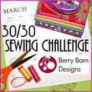 30/30 Sewing Challenge logo