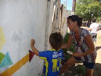 La Cámpora Mercedes: Murales de concientización para la vuelta a la escuela