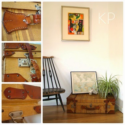 Tiendas vintage en valencia. maletas antiguas grandes, objetos y complementos para decorar tu hogar.