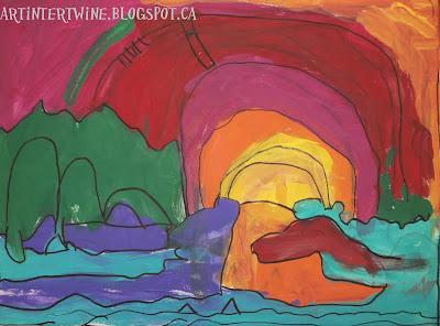acrylic painting landscape lesson