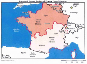 map of France, Paris mission