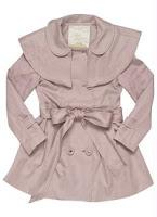 Casaquinho infantil de menina Trench Coat Rosa da Lilica Ripilica