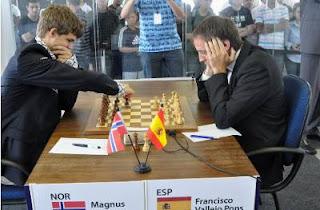 Echecs à Sao Paulo : Ronde 3, l'Espagnol Francisco Vallejo Pons crée la surprise en battant en zeitnot le numéro un mondial, Magnus Carlsen © site officiel