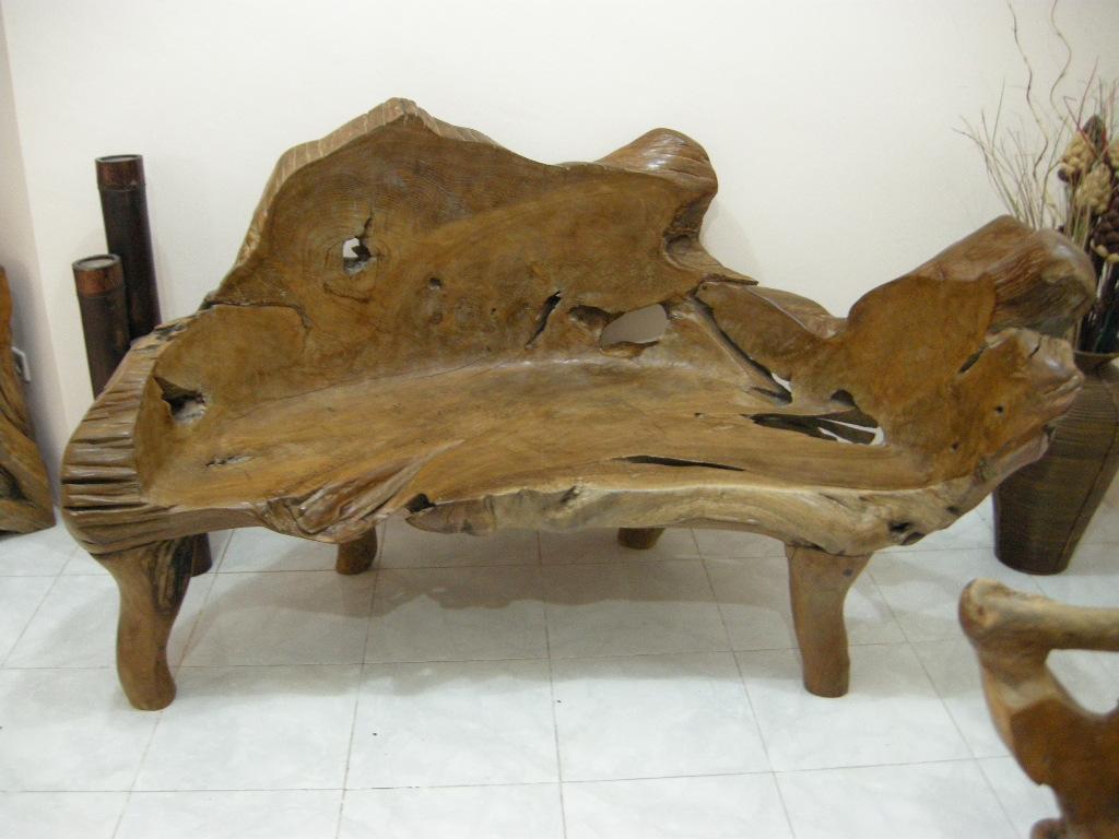 Indogemstone teak root furniture for Teak wood furniture