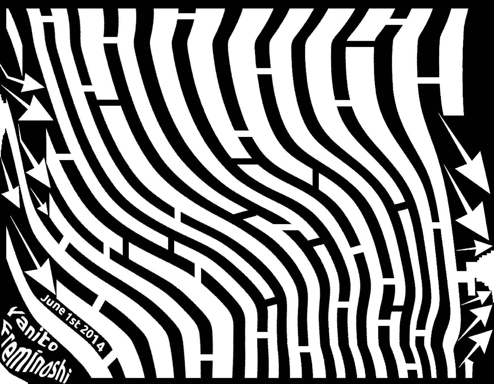 Maze art of turbulence