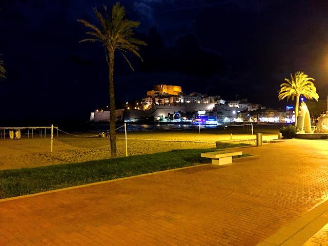 Peniscola, Zamek w nocy