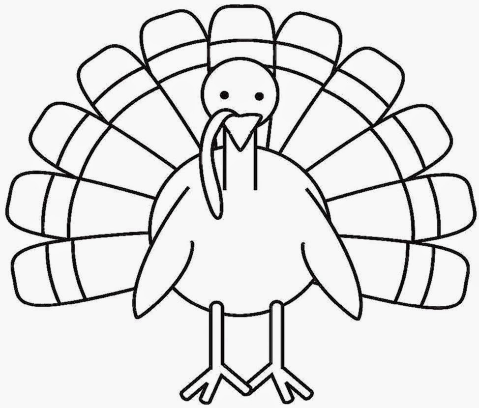 Picture Of A Turkey To Color | Free Coloring Pictures