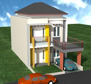 Contoh Gambar Design Rumah minimalis type 21