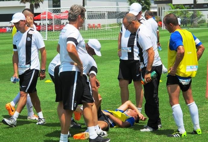 Gustavo Henrique lesão 8 meses no Santos