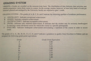 grade point average system explanations