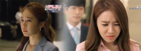 Nam Sang Hyo painfully watches Hae Young / Sang Hyo cringes