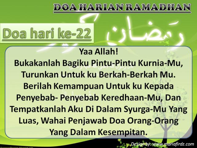 Doa Hari Ke-22