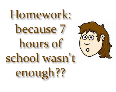 funny quotea on kids homework and stress