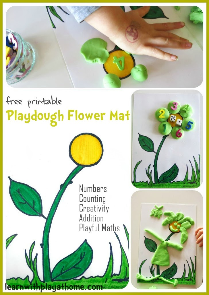 This is a photo of Bewitching Free Printable Playdough Mats
